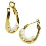 Manier 925 de Zilveren Hoepel van de Juwelen van de Oorring voor Vrouw A2e004