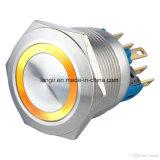 Langir che aggancia l'acciaio inossidabile illuminato anello elettrico dell'interruttore L22 (diametro 22mm) del metallo del Anti-Vandalo