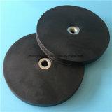 Rubber Met een laag bedekte LEIDENE van de Moeilijke situatie van de Magneten van de Pot Lichte Basis