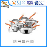 18/10 Stainless-Steel Cookware устанавливает 10PC