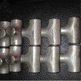 Ensamblado de acero al carbono colocación del tubo de acero inoxidable t