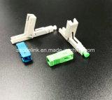 Snelle Schakelaar van de Schakelaar van de vezel de Optische Snelle die in Netwerk en Draadloze SC/PC, Sc/APC wordt toegepast