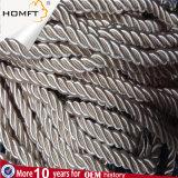高品質の未加工白い黒の袋の衣服のための編みこみの平らな空の綿ロープは帽子に蹄鉄を打つ