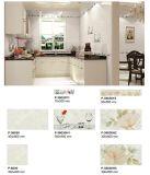 Mattonelle di ceramica di colore di sembrare grigio del marmo per la parete ed il pavimento della cucina