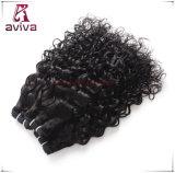 ブラジルのバージンのRemyの毛の織り方の倍は人間の毛髪水カールの織り方を浸す