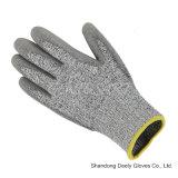 Sicherheits-Handschuhe 4543 der Fiberglas PU-Palmen-Mantel-Schnitt-Stufen-5