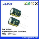 100V de Radiale Elektrolytische Condensator van het Aluminium 2.2UF