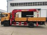 Dongfeng 4X2 sobre camión grúa camión con grúa de brazo articulado de 5 toneladas a 3,5 Ton Camión grúa con
