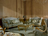 Geschnitztes beunruhigtes anstreichendes klassisches normales Sofa des festen Holz-0057 Hand