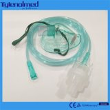 Máscara disponible del nebulizador del PVC con el kit de Aeresol en el color de Green&Transparent