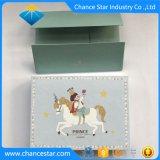 Boîte cadeau en carton imprimé personnalisé avec un boîtier plat en bas