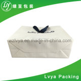 Libro blanco de lujo personalizado de mayorista Compras bolsa de regalo con logo Imprimir