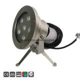Fuente de luz LED 18W DMX RGB LED de control de la luz subacuática