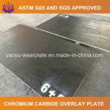 Placa de revestimiento en duro del desgaste 6+4 para la fábrica de cristal