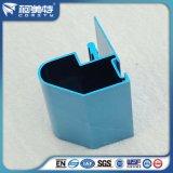 Profils en aluminium d'enduit lumineux bleu de poudre pour la décoration de guichet