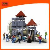 Crianças parque infantil exterior de plástico moderno conjunto de slides