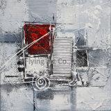 中国の抽象的な通りの油絵