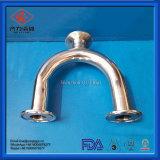 Acier inoxydable de qualité de l'hygiène U serrée coude de raccords de tuyaux de raccord en T