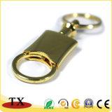 Drucken-Firmenzeichen-Metallschlüsselketten-kundenspezifischer Metallschlüsselring-Vierecks-Metalschlüssel-Halter