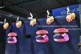 pubblicità olografica del gioco del ventilatore della maschera 3D