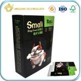 Grau alimentício papel cartão Caixa de Embalagem para Alimentos para animais