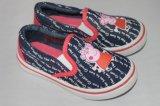 Chaussures de toile des enfants avec l'impression de Kitty