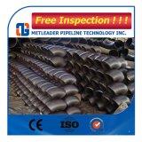 Codo JIS de la instalación de tuberías de acero