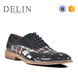 Los recién llegados de alta calidad de cuero auténtico tejido de los hombres Zapatos de Vestir