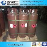 O Refrigerant intoxica o propano R290 da pureza 99.8% no pacote do tanque do ISO