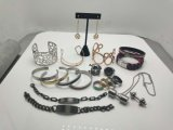 Nuovi monili degli orecchini del braccialetto del braccialetto dell'anello dell'acciaio inossidabile di modo
