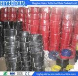 Boyau coloré de pétrole hydraulique de tissu et de surface lisse