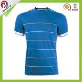 良質OEMのカスタム若者の青い縞のジャージーのサッカーのユニフォーム