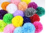 La decoración de bodas de papel suministros parte Pom Pom Flor