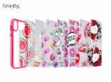 Caso duro de la cubierta del teléfono celular de la placa posterior de las flores de la PC permutable de parachoques colorida de la impresión TPU para el iPhone X de Apple