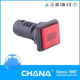 Luz de indicador redonda del indicador digital del voltaje del LED AC80V-500V
