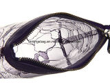 Fashion Beauty PVC transparent avec dentelle violet Promotion Sacs cosmétiques