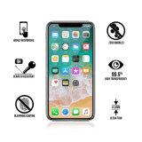 Accessoires de luxe de téléphone de protecteur d'écran en verre Tempered d'accessoires de cellules/téléphone mobile de protection d'écran LCD de 2017 septembre pleins pour l'iPhone X d'Apple