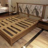 2017寝室セット(CH-602)のための最新のデザイン純木のベッド