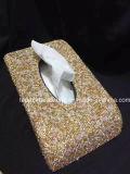Rectángulo cristalino hecho a mano del tejido de la caja de las servilletas del sostenedor de la toalla de papel del diamante del Rhinestone (TB-coloreado)