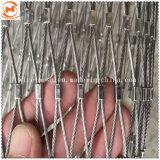 Cuerda de alambre de acero inoxidable malla para la protección contra caídas