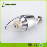 Indicatore luminoso della candela dei lampadari LED dell'UL 6W E12 SMD3014 del Ce