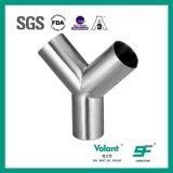管付属品のステンレス鋼衛生溶接されたYのタイプティー