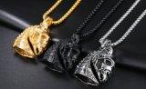簡単な普及した熱い型の骨董品の銀または黒または金カラー馬ヘッドペンダントのチェーンネックレス