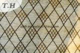 Reticolo giallo-chiaro del tessuto del sofà del jacquard del Chenille del diamante (FTH31714)