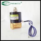 "Válvula electromagnética eléctrica de cobre amarillo del combustible agua-aire 1/4 de Uni-D 12VDC N/C Viton """