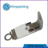 Disco de destello del USB del cuero para el USB promocional