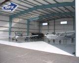 速い構築サンドイッチパネルの屋根のプレハブの鉄骨構造の航空機の格納庫