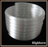 乳白色の白いコイルの無水ケイ酸の水晶管