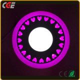 Ronde couleur Double 6+3W/9+3W/12+3W/18+6W Voyants du panneau LED de panneau à LED