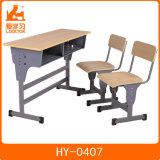 مزدوجة طالب مكتب وكرسي تثبيت خشبيّة [سكهوول فورنيتثر] [فيربرووف] قاعة الدرس طاولة